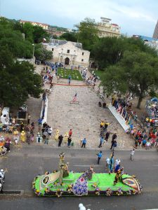 Battle of Flowers Parade in front of the Alamo