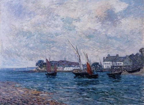 "Maufra - ""Boats and Shingle Beach"" (courtesy of I Require Art)"