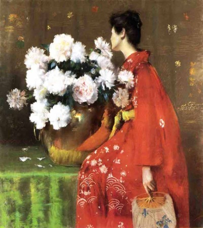 Peonies, William Merritt Chase, 1897