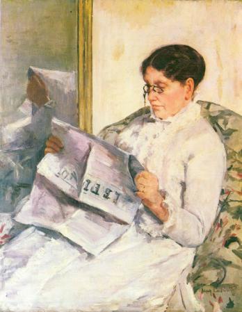 Mary Cassatt - Reading Le Figero